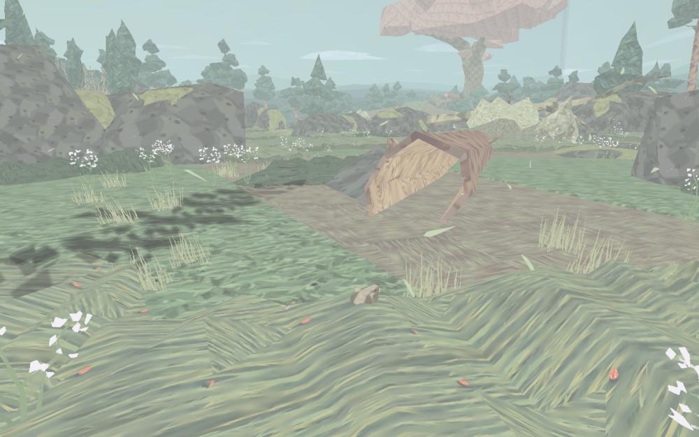 藏在草叢中躲避天上的老鷹(黑影)... 是哪個笨小孩露出來啦!