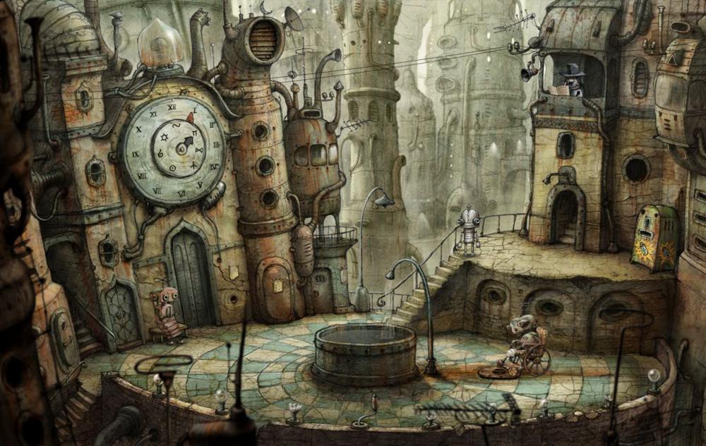 牆上的時鐘的時針分針呈現奇怪的角度,上面的圖騰像是在暗示什麼......?