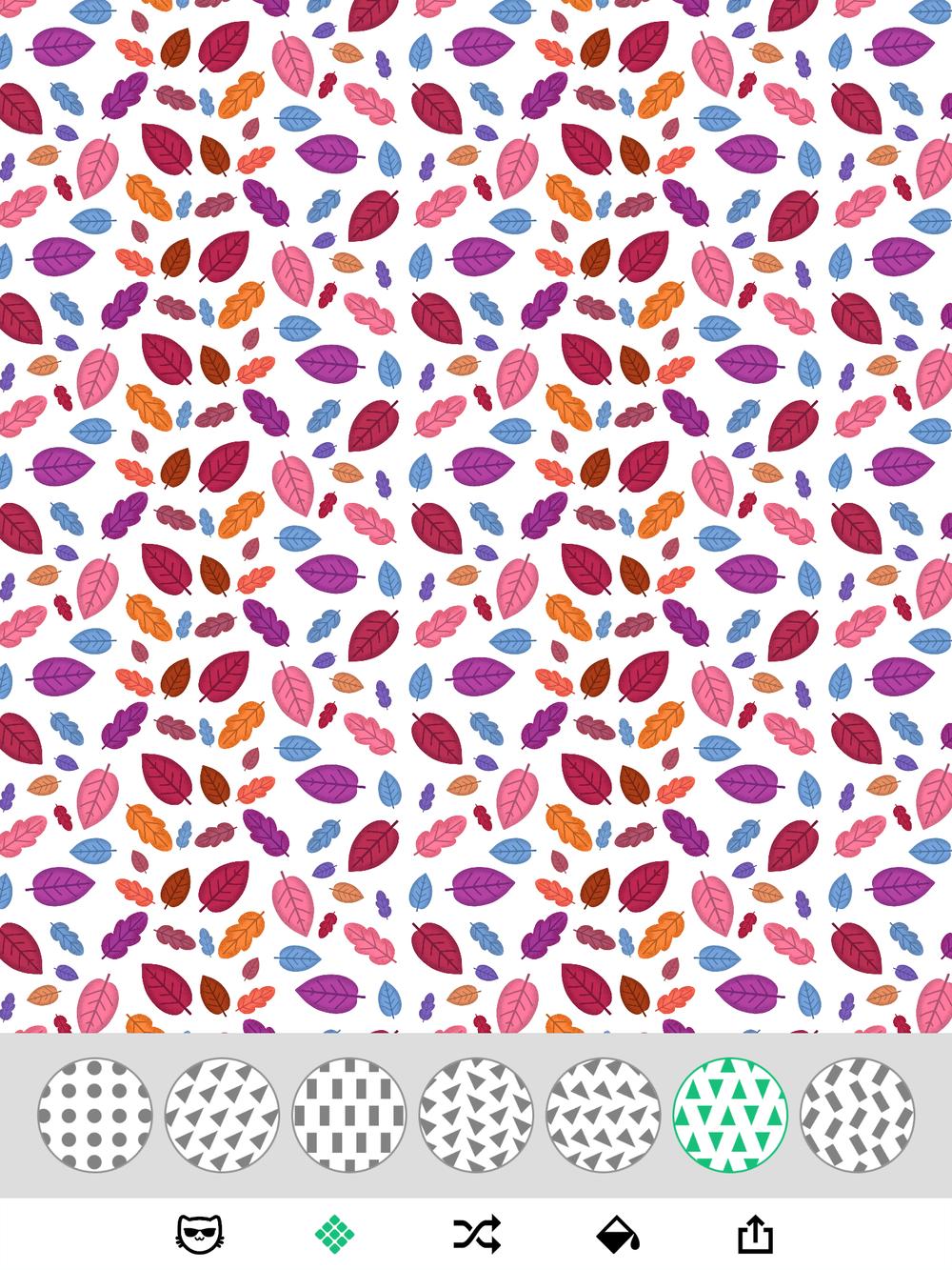 simple pattern maker on iPad