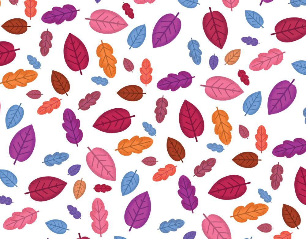 simple leaf pattern freebie