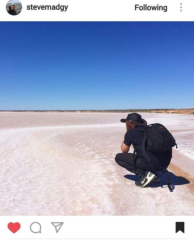 Repost from @stevemadgy Apparently I was looking for something else other than just white or blue in the middle of a salt lake... #saltlake #lakehart #onassignment #southaustralia for @austtraveller