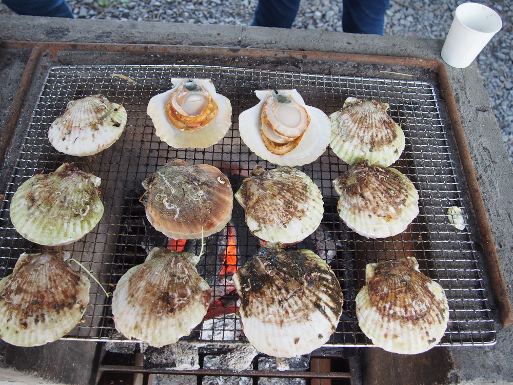 Local delicacies on the BBQ.