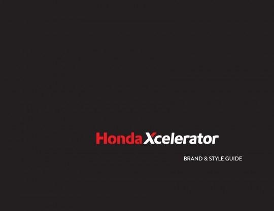Honda Xcelerator Brand & Style Guide