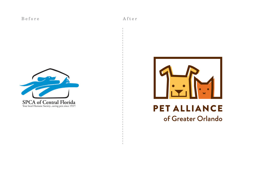 SPCA Rebrand to the Pet Alliance of Greater Orlando - Copyright GBC 2014