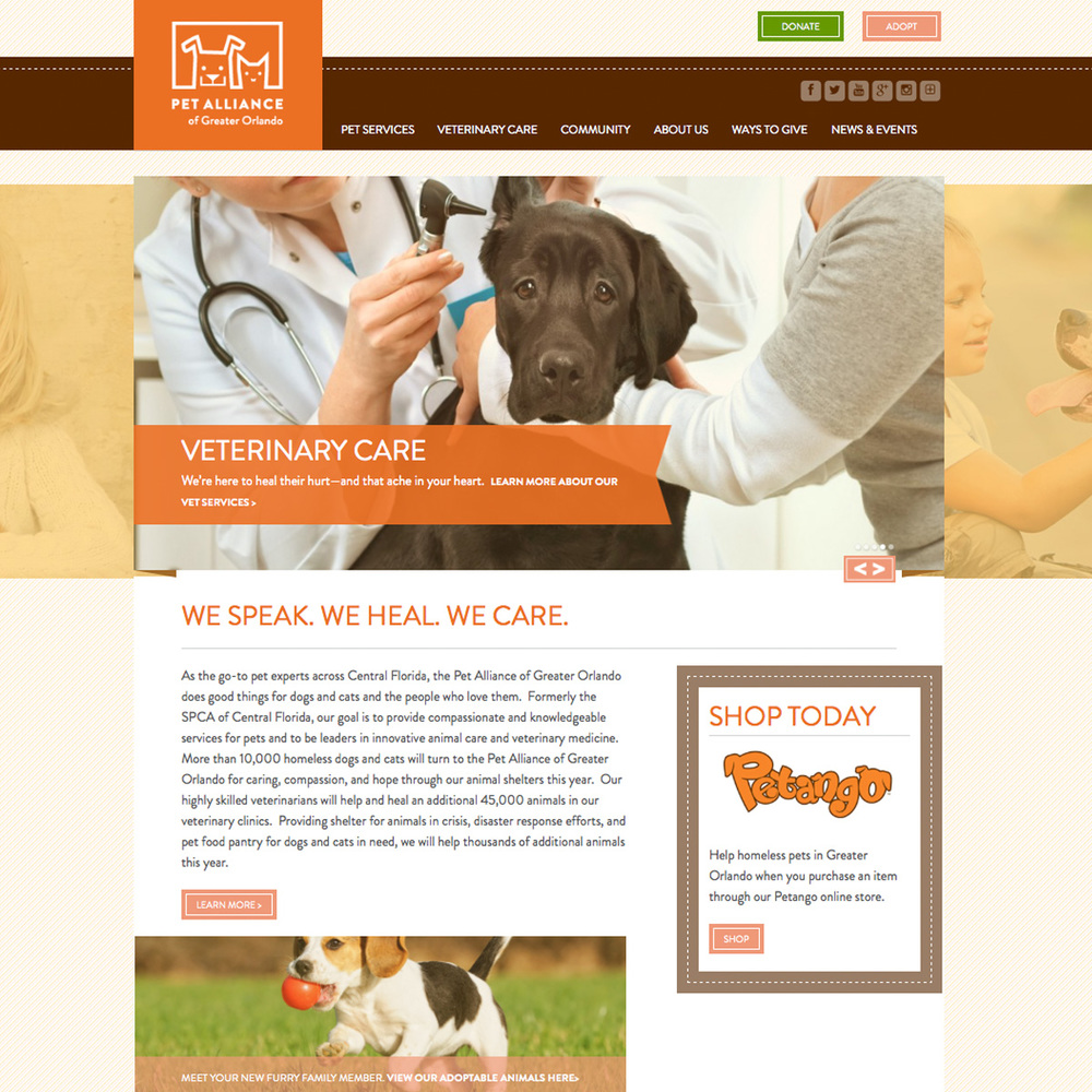 Pet Alliance of Greater Orlando Website