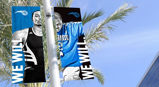 "Orlando Magic 2012 ""We Will"" Campaign Poles"