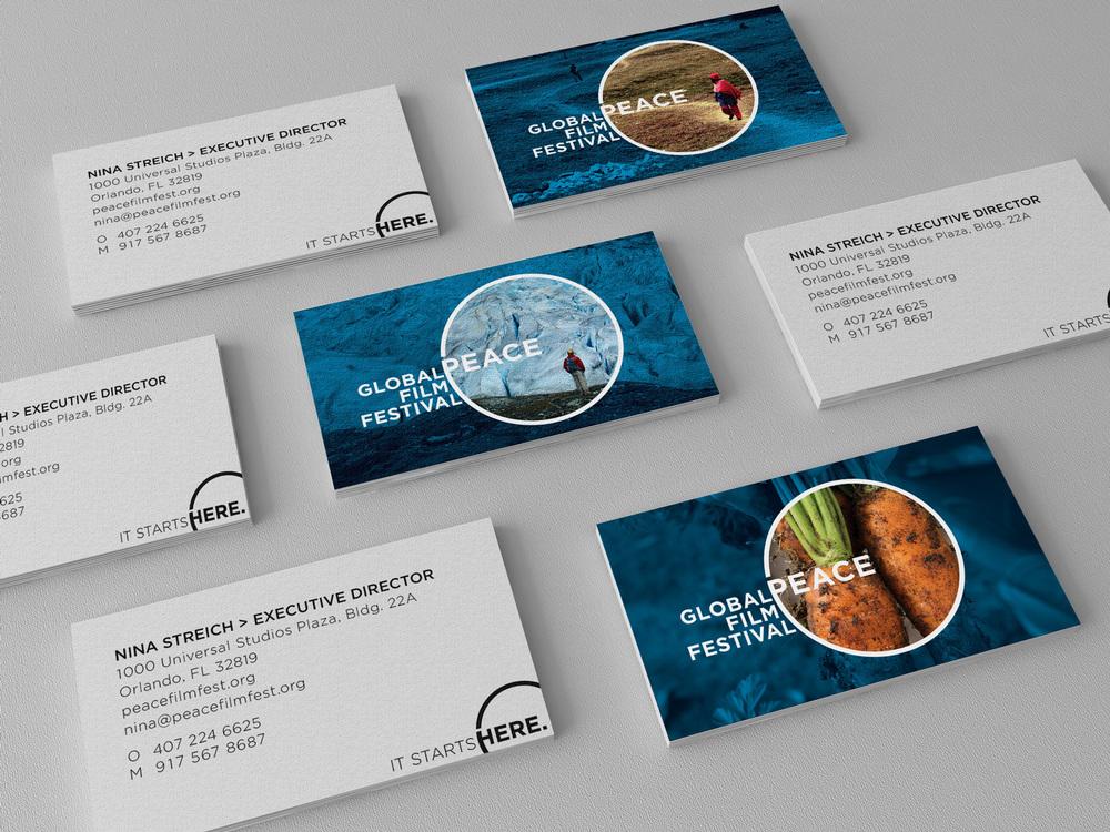Global Peace Film Festival Business Cards