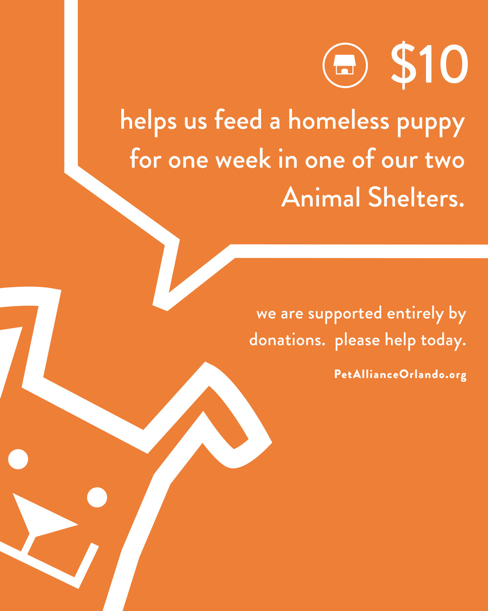 Pet Alliance of Greater Orlando Donation Card