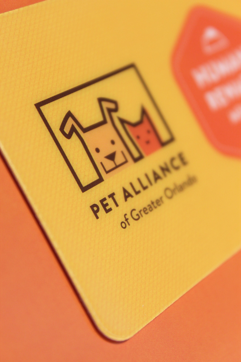 Pet Alliance of Greater Orlando Membership Materials - Closeup