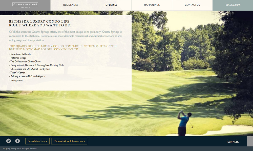Quarry Springs Website Lifestyle Page