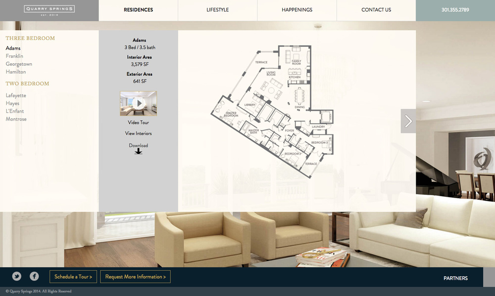 Quarry Springs Website Residences Page
