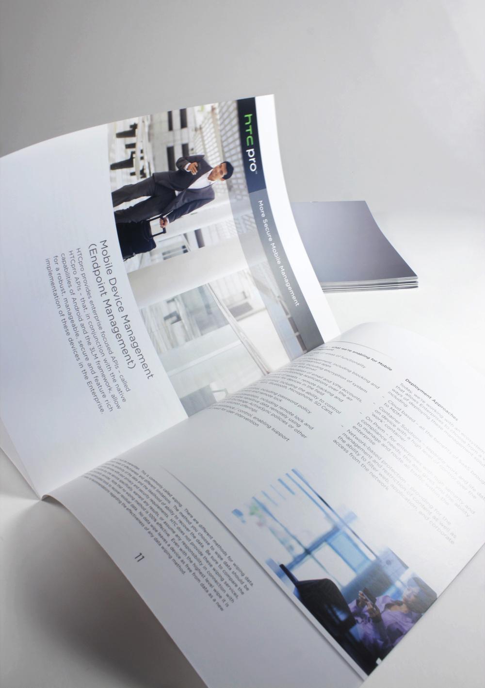HTC Pro Device Manual Inner Spread