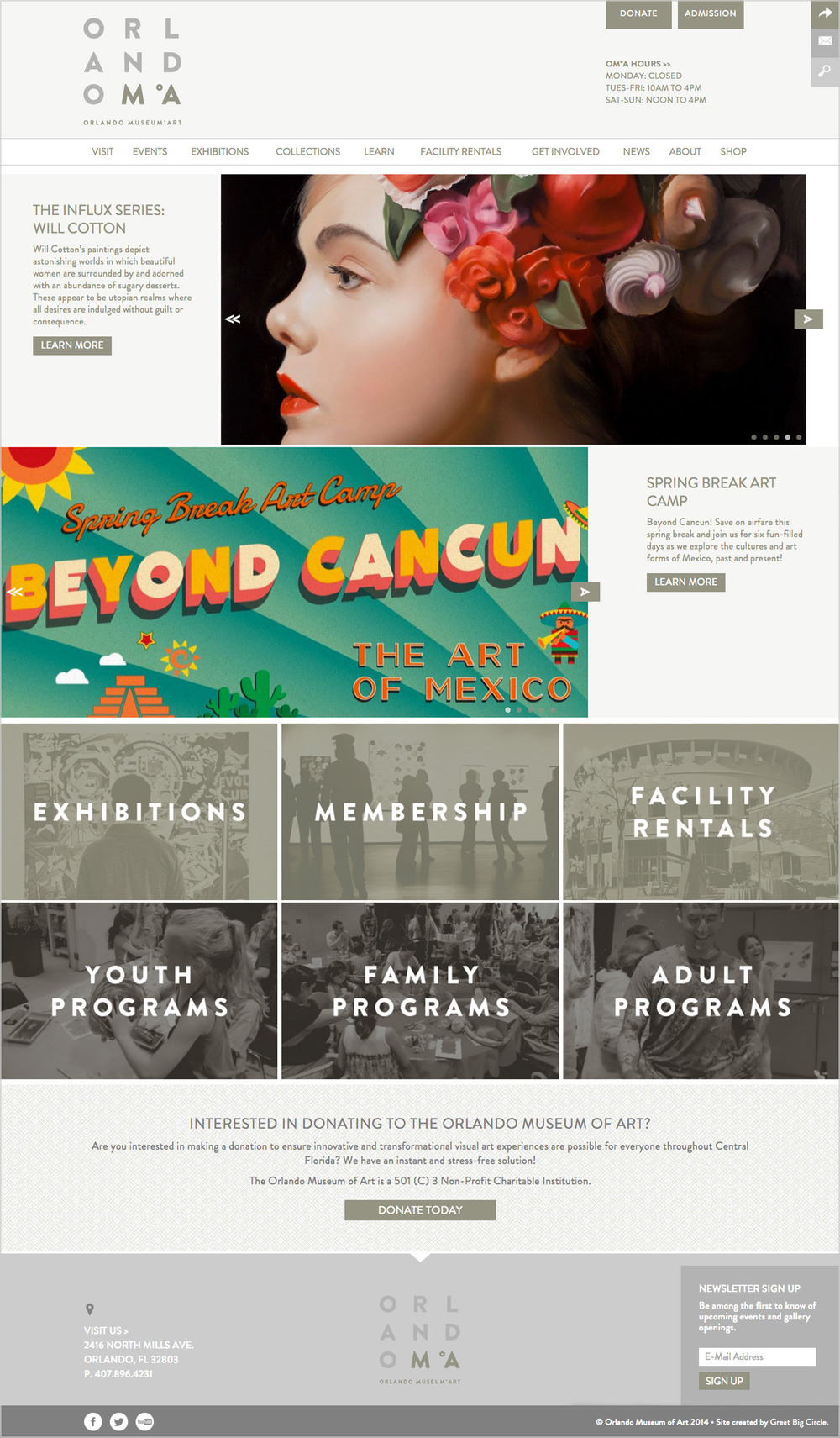 Orlando Museum of Art Home Page