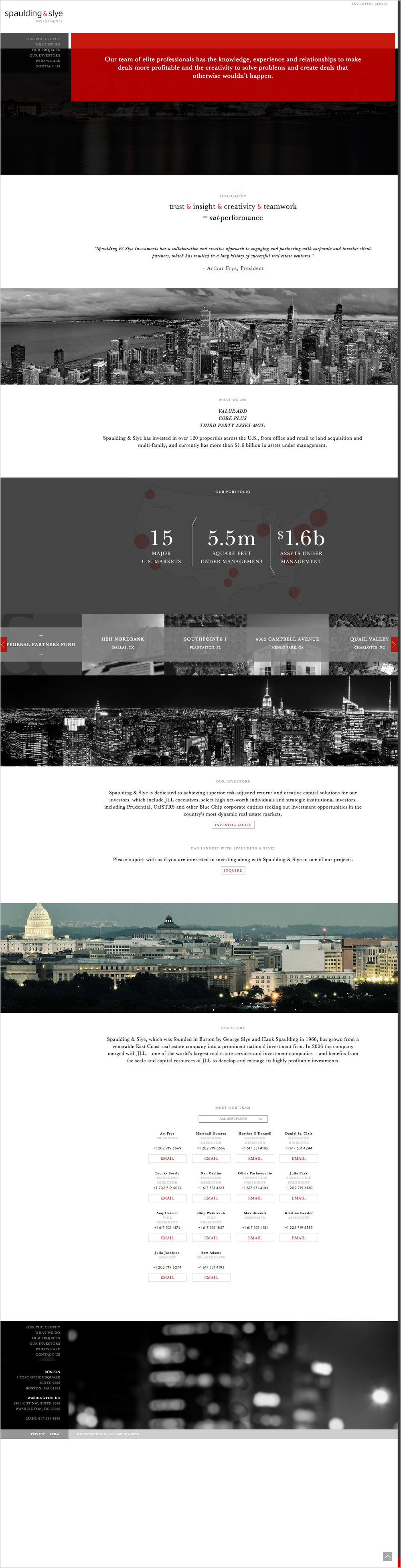 Spaulding & Slye Website Full