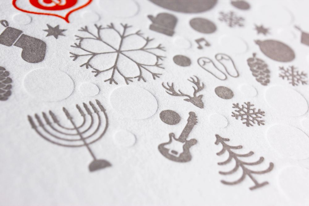 Orlando Venues Letterpressed Holiday Card