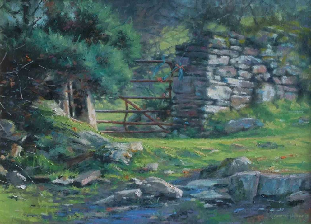 """The Rusty Gate""                          Oil on Canvas                      10 ins  x 14 ins"