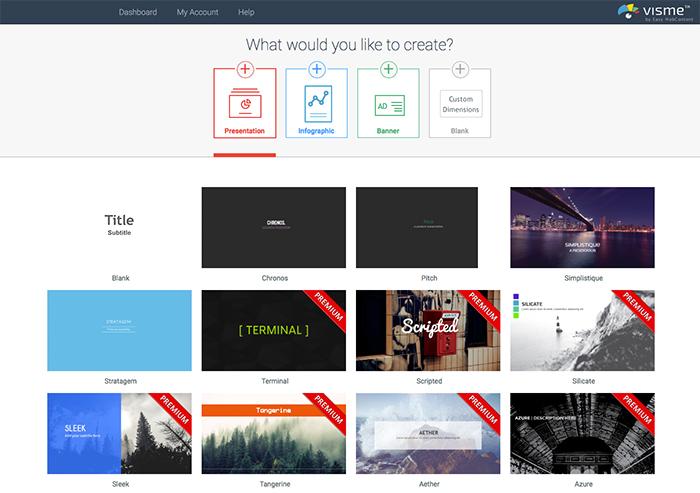 Visme ist ein Tool zur schnellen und mühelosen Erstellung von Social-Media-Grafiken