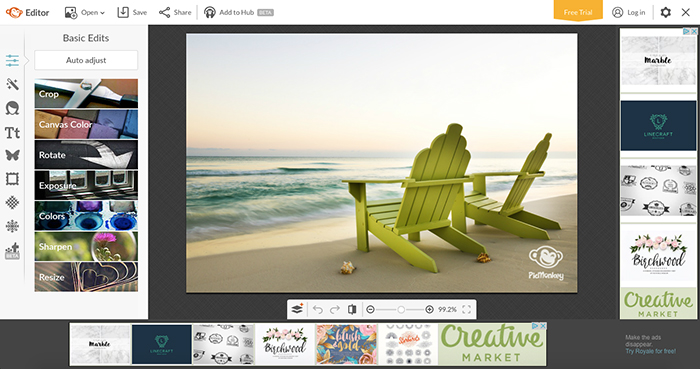 Picmonkey ist ein Tool zur schnellen und mühelosen Erstellung von Social-Media-Grafiken