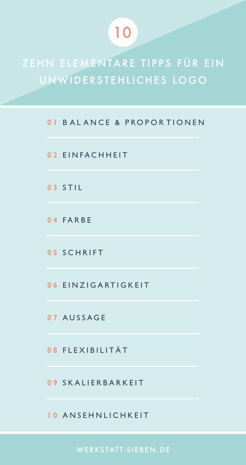 Infografik: Zehn elementare Tipps für ein unwiderstehliches Logo