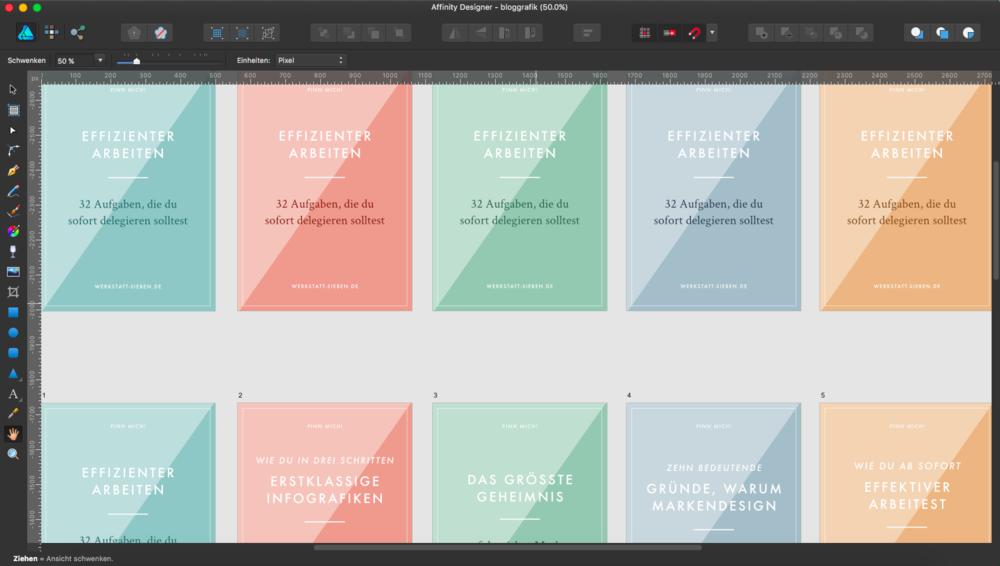 Das Erstellen von Vorlagen für Blogpost-Grafiken, spart dir richtig viel Zeit!