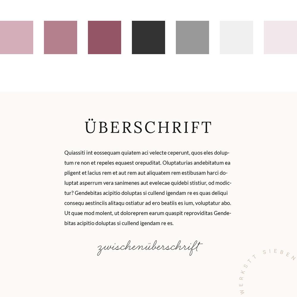 Basic Styling mit Farbpalette und Schriftkombinationen