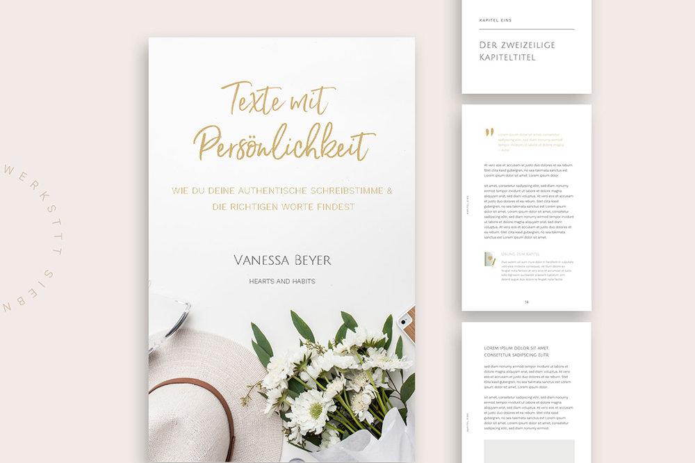Designvorlage für ein eBook (Cover und Inhaltsseiten)