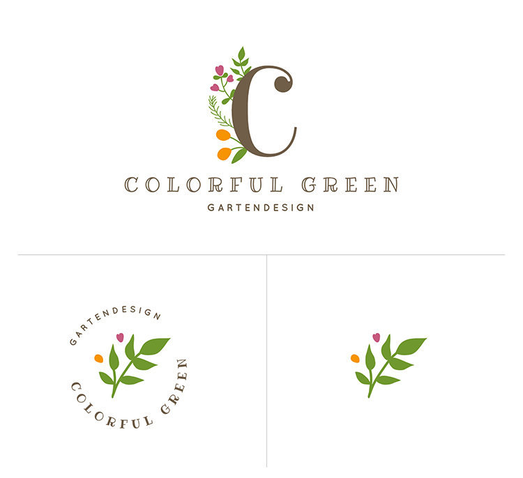 Logo-Alternativen in unterschiedlichen Formaten