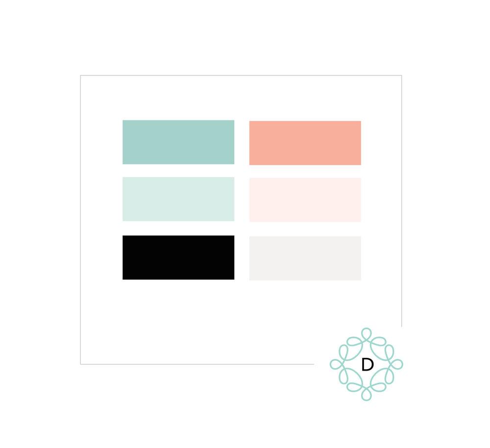 Farbpalette mit hellen, mittleren und dunklen Farben