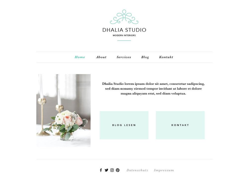 Startseite für 'Dhalia Studio'