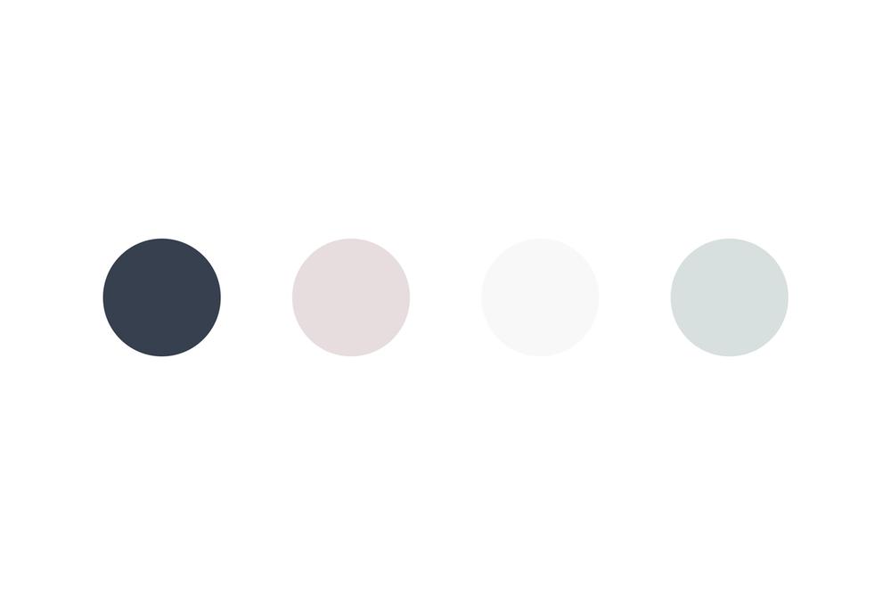Die Farbpalette besteht aus zarten, ruhigen Farbtönen.