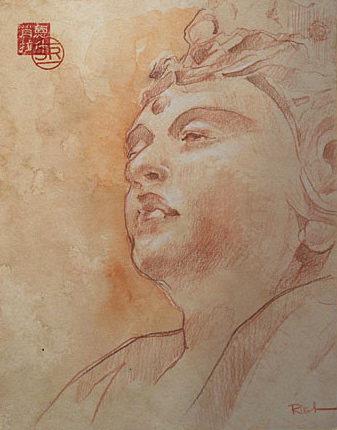 Study of Quanyen Marble Statue