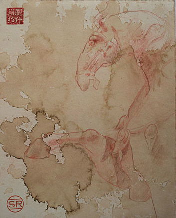 Study of Terracotta Chinese Horse