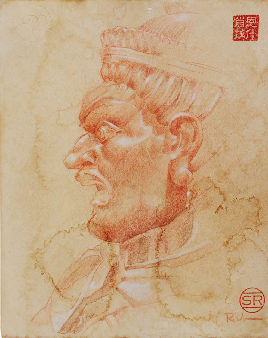 Study of Chinese Warrior Statue