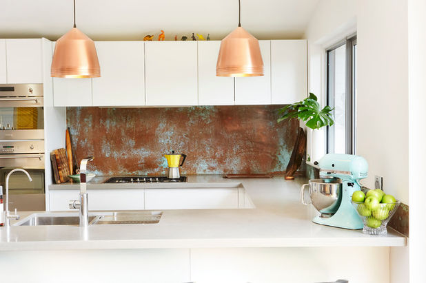 - We are seeing copper sinks, faucets, lights and even tile in kitchens.