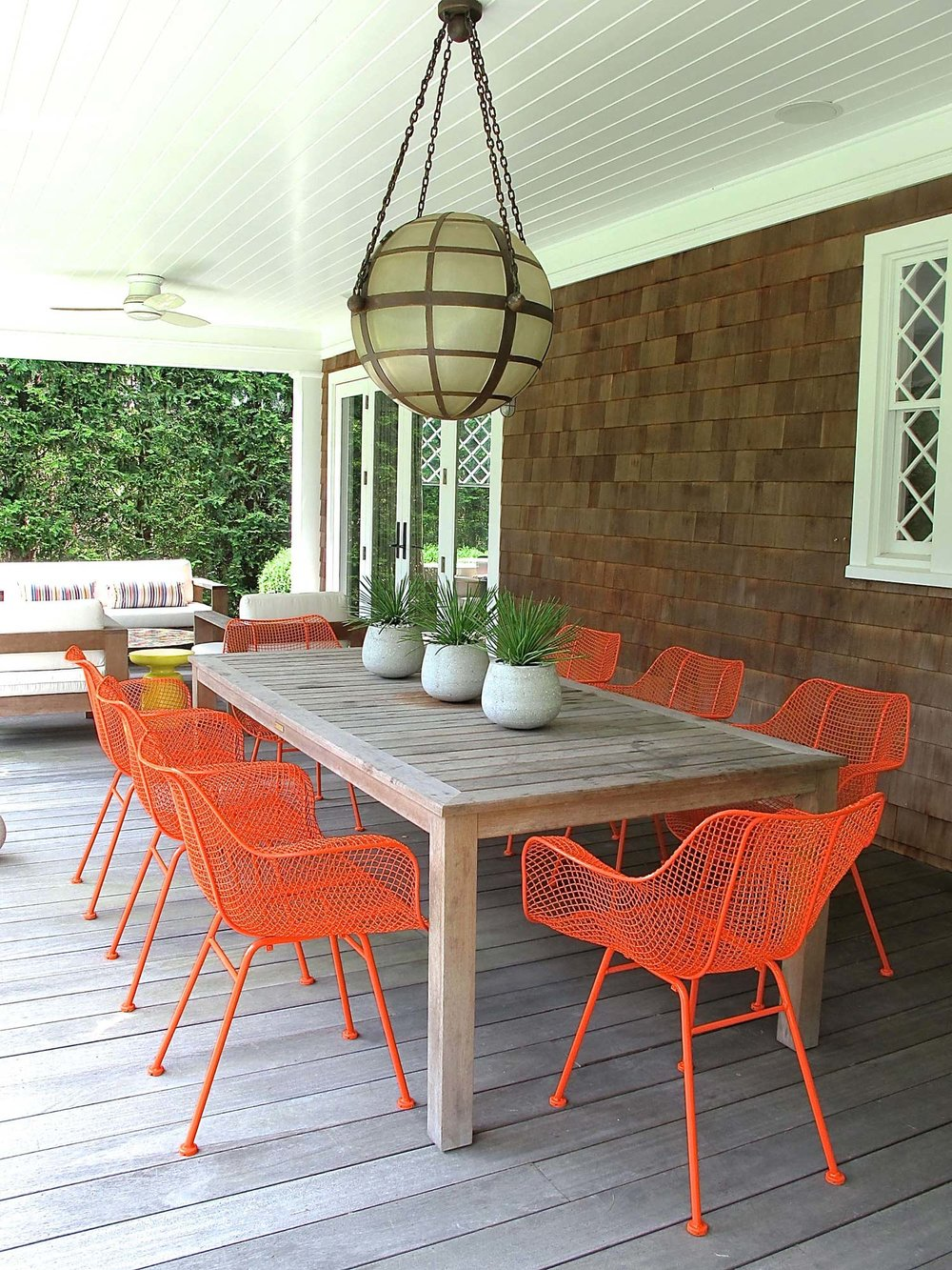 5) Trade out that old patio furniture for some new coastal or modern designs! -