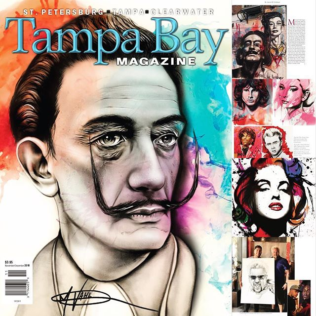 Blessed the cover of Tampa Bay Magazine. Extremely grateful for this opportunity. Looking forward to ext weekends art show @hyattplace_dtsp showcasing artwork from artists in the Tampa Bay Area and St. Petersburg.