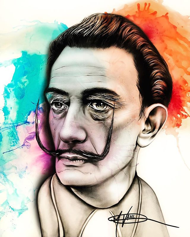 Very special edit happening to this painting soon #surprisemotherfuckers #dali #art #artwork #salvadordali #magazine #mommaimadeit #tampaart #tampaartist #galleryartist #abstract #portraiture #portraitart #dalimuseum #vahlart