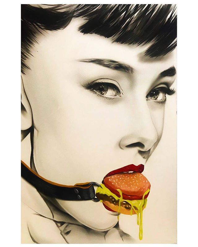 """I'm Lovin It"" #forsale #oil on #canvas #audreyhepburn"
