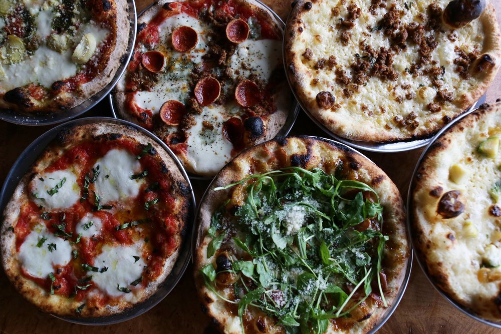 "9"" Pizzas, half salads and single meatball plates now available for lunch!"