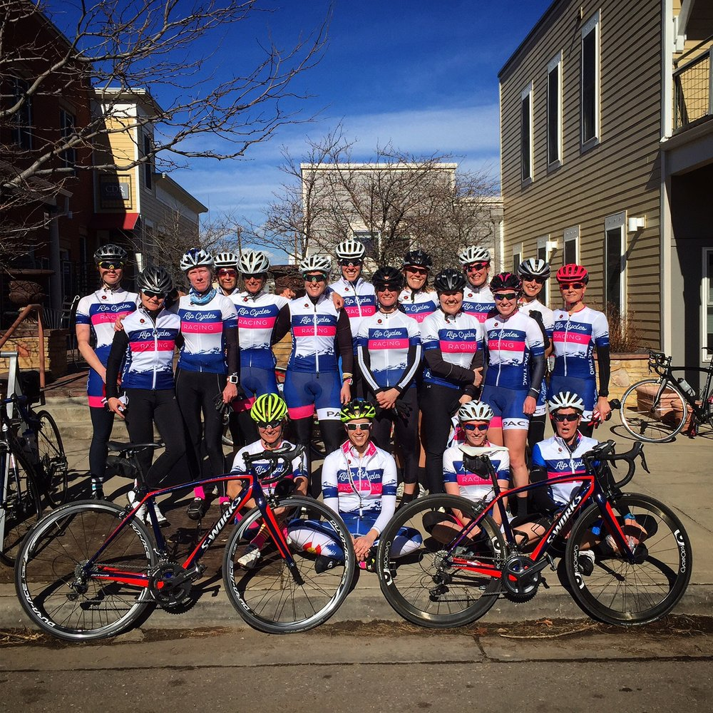The 2017 ALP Cycles Women's Race Team.