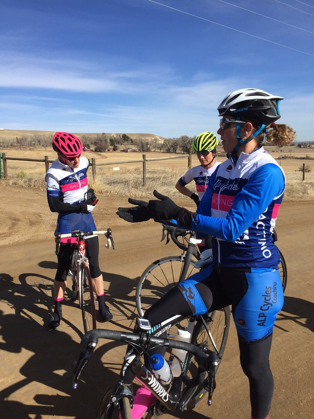 As a new team, ALP Cycles Race Team is practicing each chance they get to learn the art of bike racing.