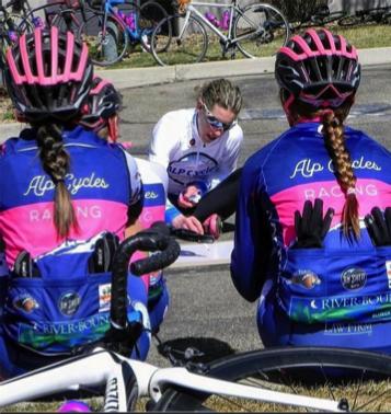 Team ride focused on racing tactics