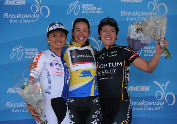 2014 Tour of California Circuit Race: 1st: Carmen Small, 2nd: Coryn Rivera, 3rd: myself