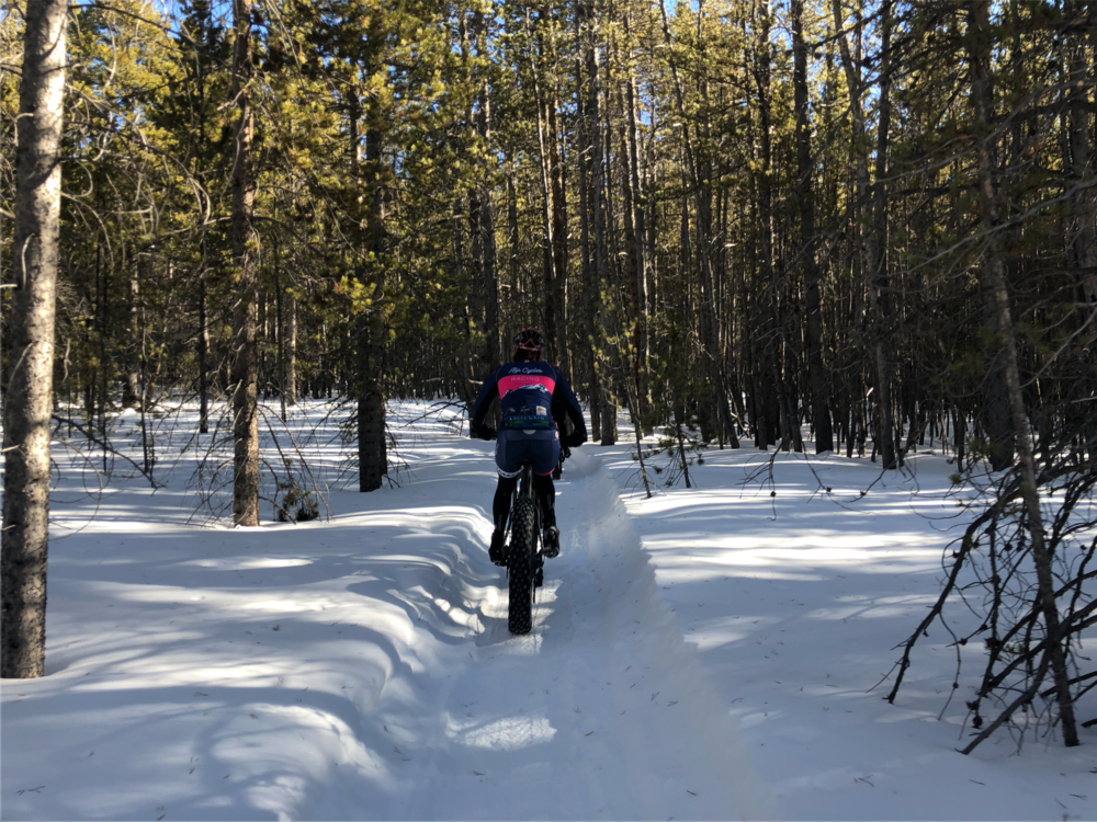Riding on the CC trails