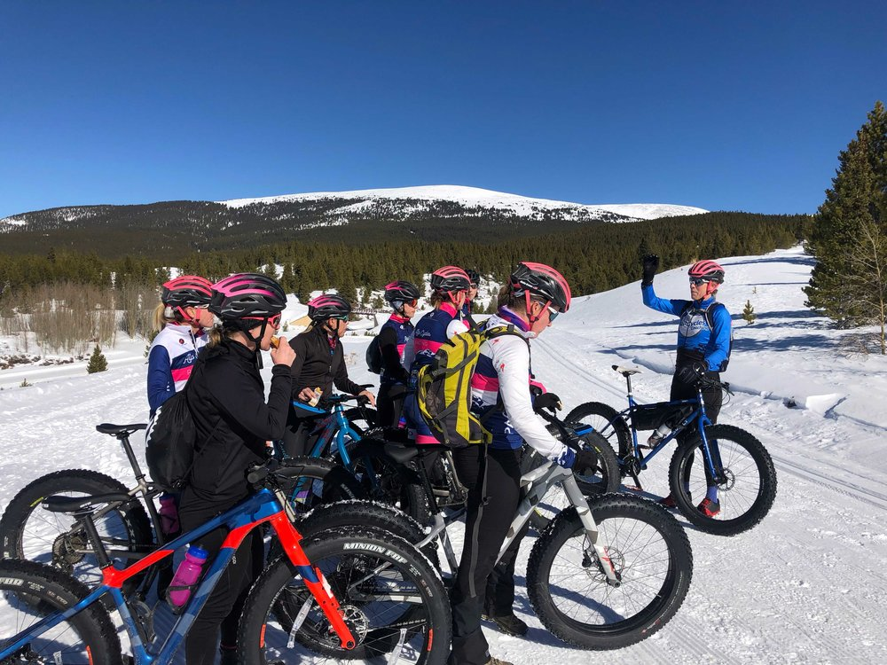 Alison instructing the riders