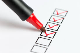 Have a checklist in order to be well prepared