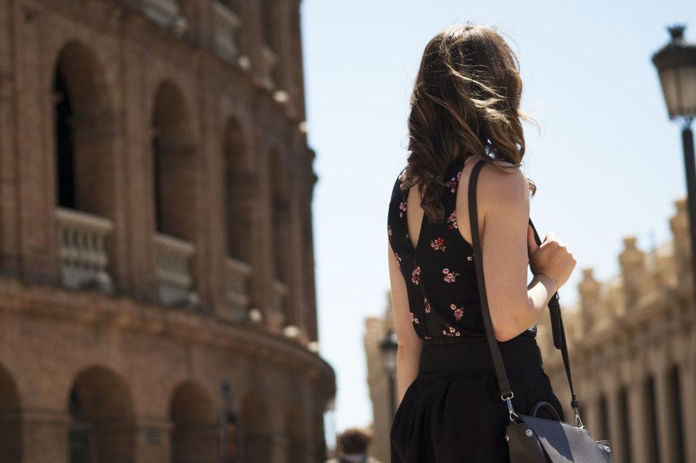Standing in Plaza de Torros