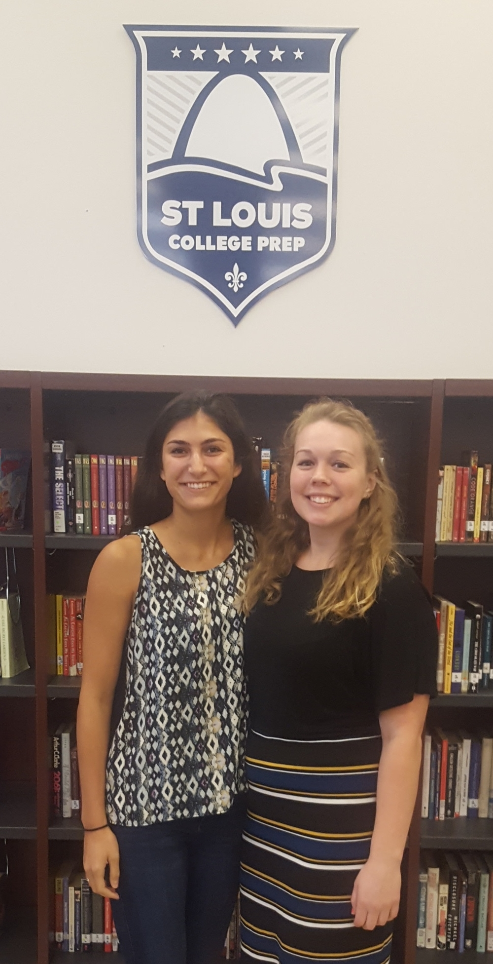 Washington University interns Claire Savage and Leah Bahmbri have spent the past 10 weeks serving at St. Louis College Prep.