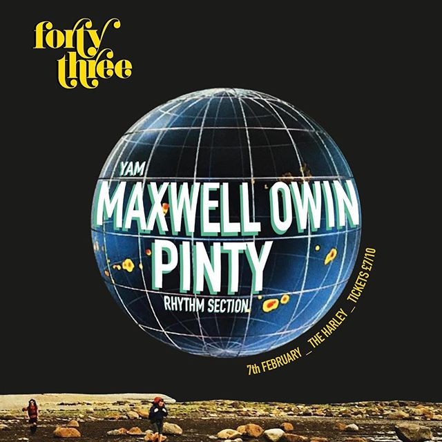 TONIGHT @fortythreesheff are bringing @maxwell_owin & @pintymc to our place for a very special Sheffield debut. £5 tickets sold out in the first few hours. £7 tickets - https://fixr.co/event/898194500  @rhythmsectionhq @yam_records