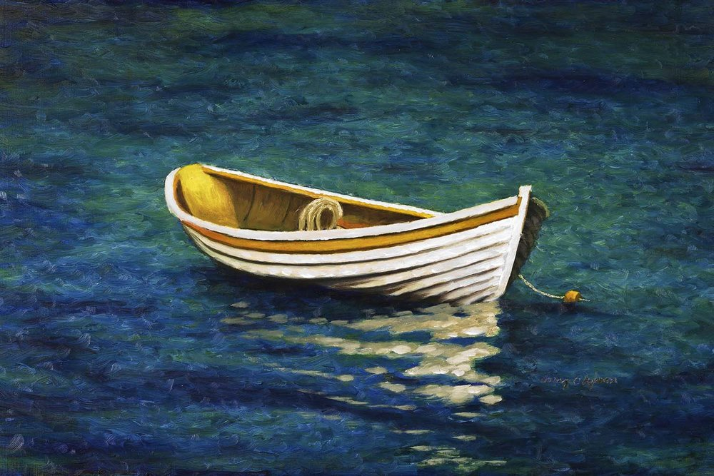 Olofsson 10 X 15 Oil Painting of a Dinghy.jpg